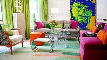 Дизайн интерьера в стиле Поп арт